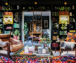 boho, books, and eclectic image