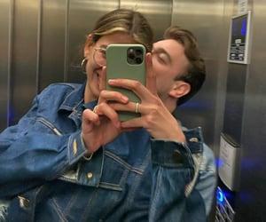 boy, elevator, and girl image