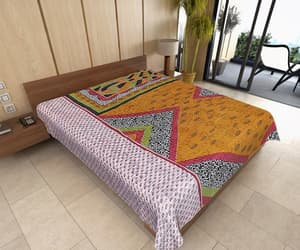 etsy, quilted blanket, and kantha quilt image