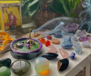crystal and meditation image