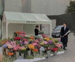 flowers, Prada, and bouquet image