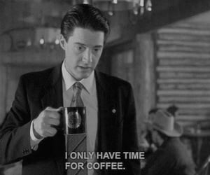 coffee, Twin Peaks, and time image