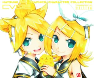 art, rin and len, and anime image