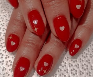 aesthetic, red aesthetic, and nails image