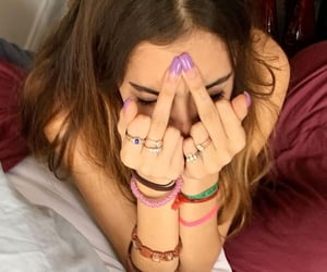 aesthetic, middle finger, and mood image