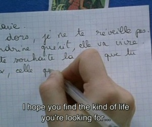 girl, Letter, and subtitles image