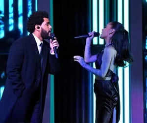 ariana grande, arianagrande, and the weeknd image