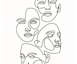 art, faces, and drawing image