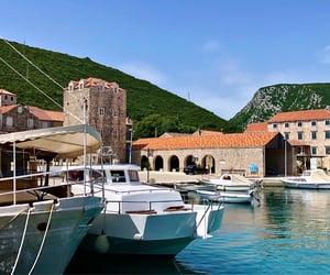 boat, mediterranean, and seashore image