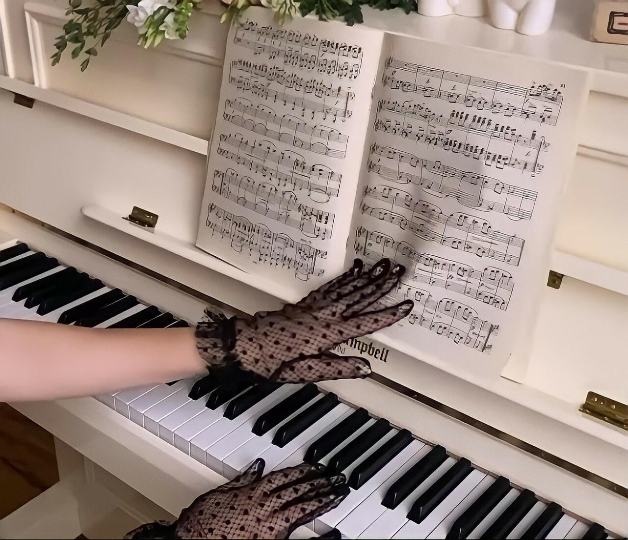 glove, hand, and music image