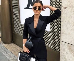 black suit, chanel, and fashion image