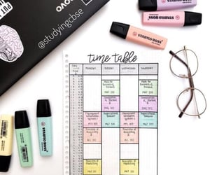 organised, pastel, and highlighters image