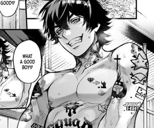 anime, b&w, and boy image