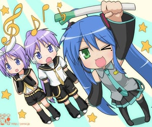 vocaloid, lucky star, and miku image