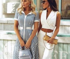 dolce gabbana, fashion, and striped dress image
