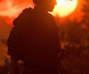 dusk, sun, and katana image