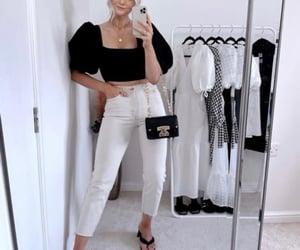 black, denim, and moda image