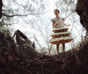 alice in wonderland, fantasy, and forest image