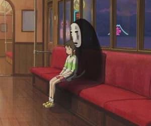 anime, chihiro, and train image