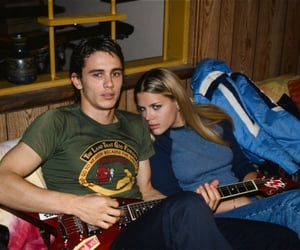James Franco and Busy Philipps behind the scenes of 'Freaks and Geeks' (1999-2000)