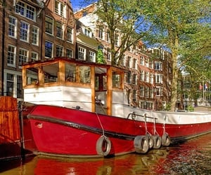 amsterdam, holiday, and houseboat image