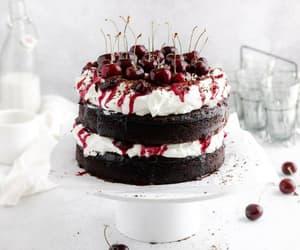 cake, cake love, and cherries image