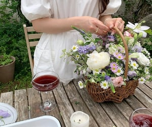 drinks, fashion, and flowers image