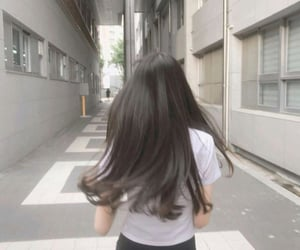 aesthetic, hairstyle, and longhair image