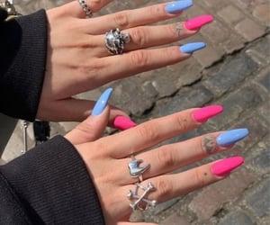 aesthetic, nails, and nailart image