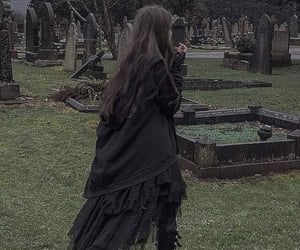 aesthetics, cemetery, and dark image