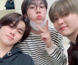 minhee, seongmin, and woobin image