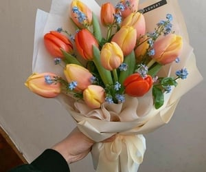 flowers, bouquet, and orange image