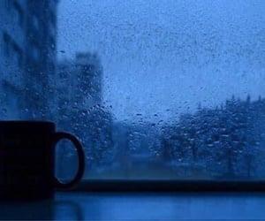 blue, rain, and sad image