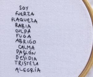 bordado, fuerza, and tristeza image