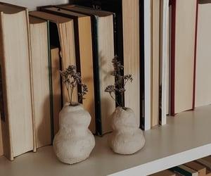 beige, books, and bookshelf image