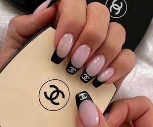 chanel, fashion, and nails art image
