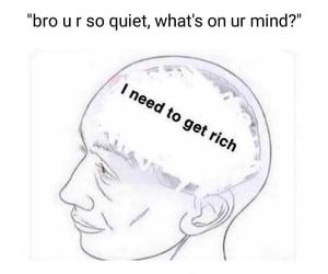 rich, mindset, and lifegoals image