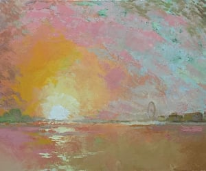 art, paintings, and pink image