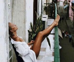 balcony, plant, and tan image