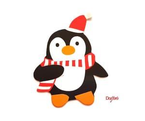 christmas, santa, and penguin image