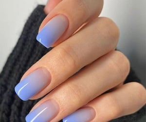 blue, fashionable, and nails design image