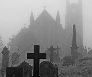 cemetery, rip, and dark image