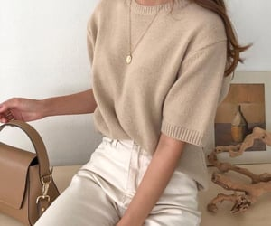fashion, beige, and style image