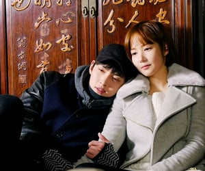 couple, korean, and together image