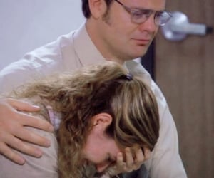 comforting, dwight, and friend image