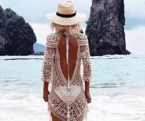 beach, bohemia, and dress image