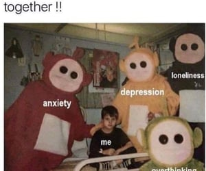 depression, anxiety, and meme image