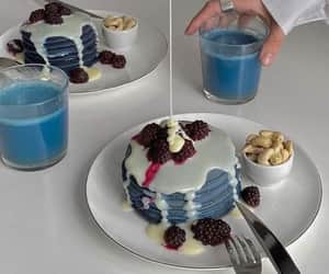 blue, delicious, and pancakes image