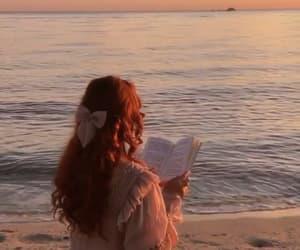 beach, books, and girls image
