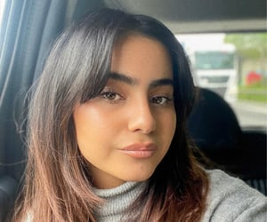 bangs, girls, and hair image